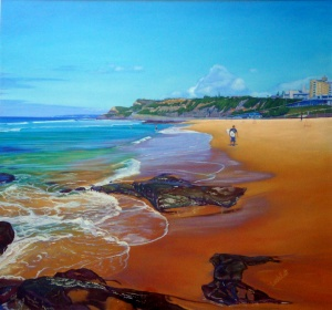This is a review of my joint exhibition held with Amanda Sheldon (painting sold) #pastel #painting #art #seascape #ocean #water #carole #elliott #artist