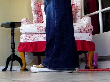 Hem your jeans in three steps and KEEP THE ORIGINAL HEMLINE! Glory! I just did this and it  was crazy easy. Woo hoo!