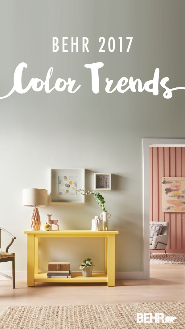 With The Behr 2017 Color Trends And This Paint Combination Of Gold Hearted Close Knit Everything Rosy Your E Can Make A Chic