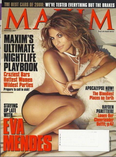 Eva Mendes Maxim Magazine Nov 2007 Hayden Panettiere