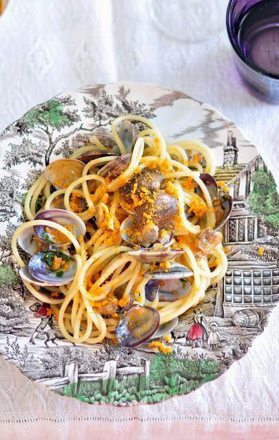 Spaghetti vongole e bottarga   #recipe #pasta #fish