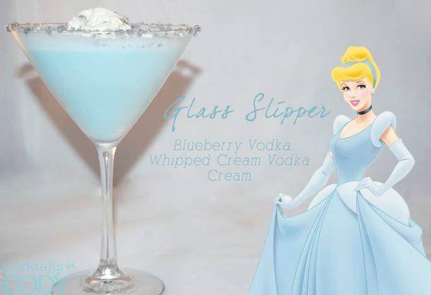 """Glass Slipper """"Disney Cocktails"""", imaginés par Cody, créateur de cocktail indépendant à Washington."""
