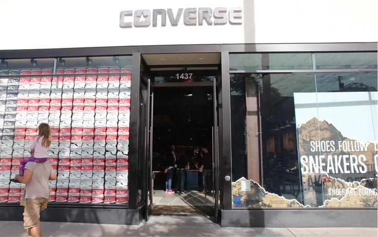 window graphics for the new @Converse store in the Santa Monica Promenade