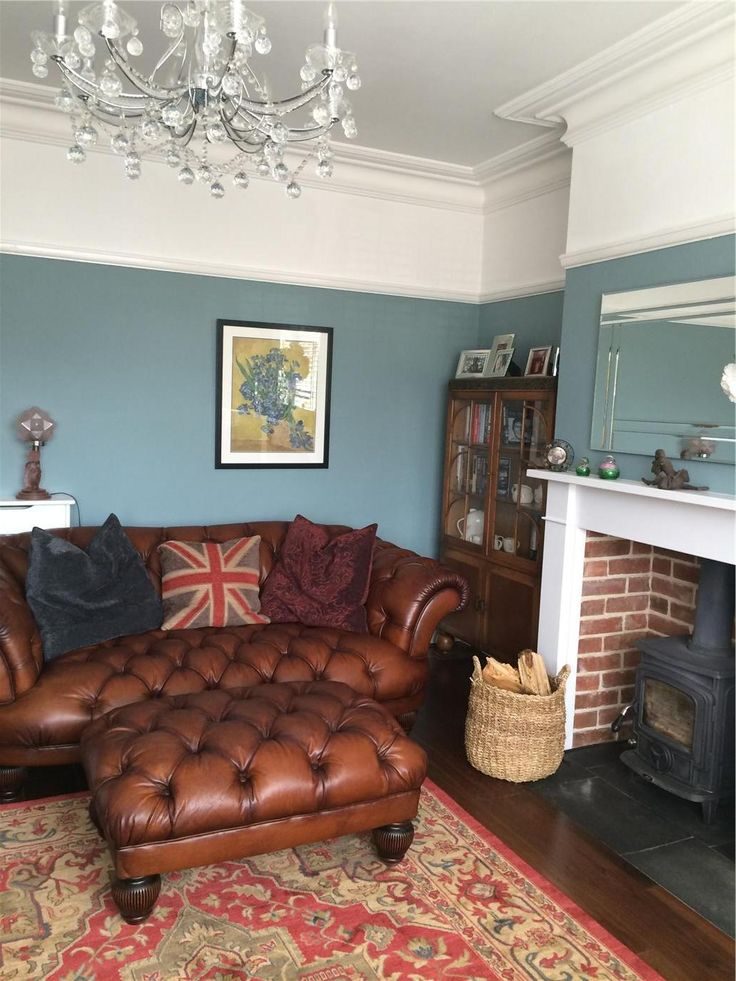 An Inspirational Image From Farrow And Ball Oval Room Blue Again Perhaps A Little Too Home Decor Ideas Interior Design Tips