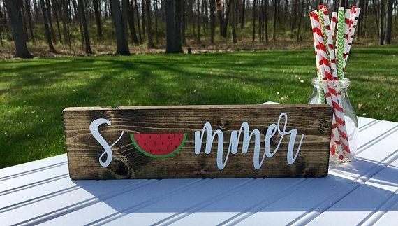 Summer Sign Summer Decor Watermelon Decor Watermelon Sign