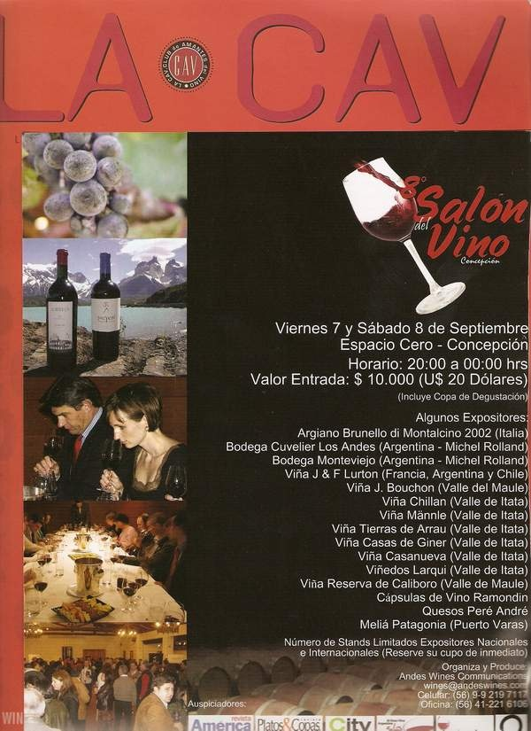 recordando el 8 salon del vino en concepcion