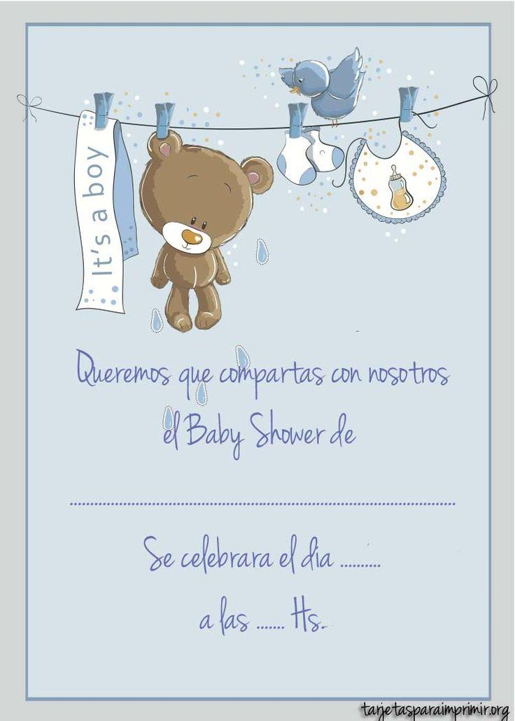 Resultado de imagen para invitaciones baby shower varon