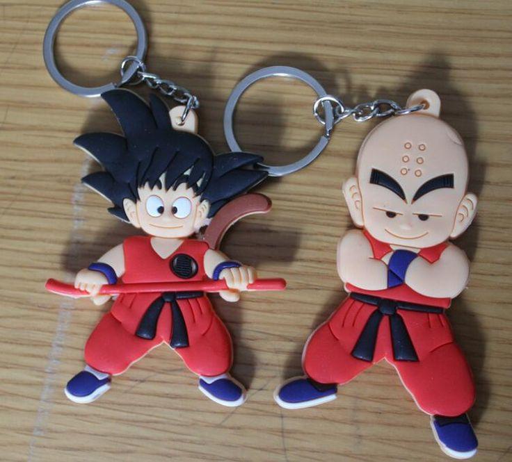 #Dragon #Ball Z Son Goku Krilin PVC-Jouets avec porte-clés