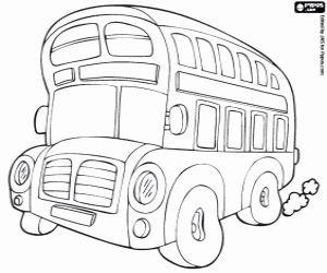 Omalovánka Typická autobus London