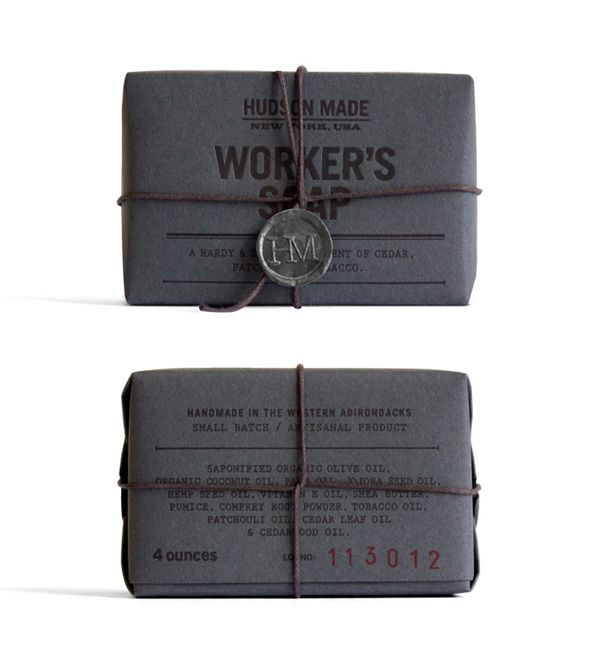 Hudson Made: Worker's Soap by Hovard Design , via Behance