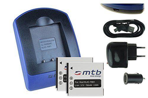 2 Akkus + Ladegerät (Netz+Kfz+USB) für Ricoh Action Cam WG-M1 / Pentax MX-1, X90 / Sigma DP Merril.. - s. Liste - http://kameras-kaufen.de/mtb-more-energy/2-akkus-ladegeraet-netz-kfz-usb-fuer-ricoh-action-1