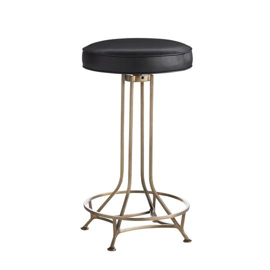 Livi Counter Stool Contemporary Traditional Metal Leather