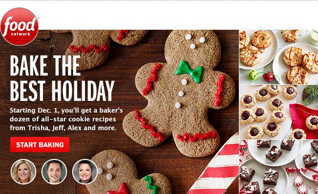 Baking up a storm this holiday season? Get sweet inspiration from Food Network's 12 Days of Cookies. #12DaysOfCookies