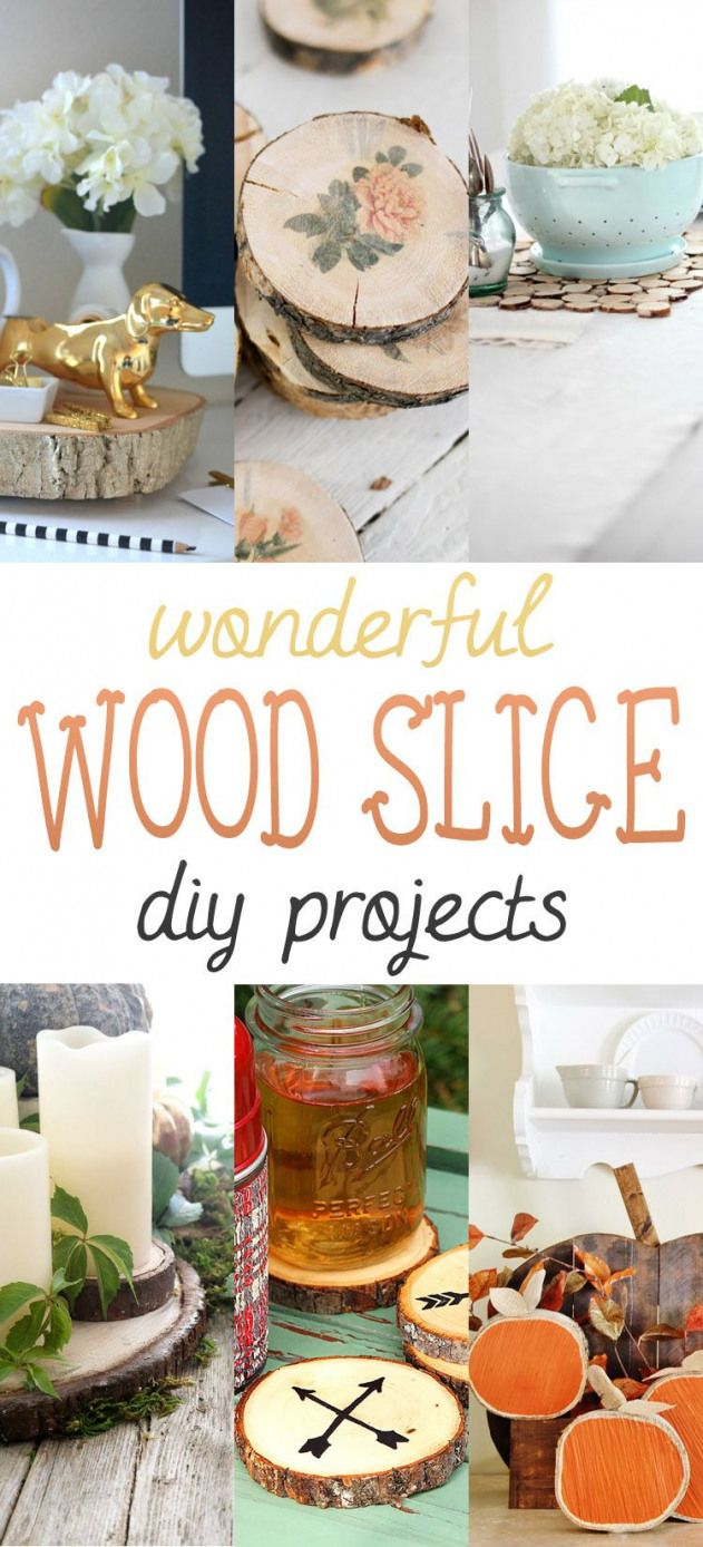 Wonderful Wood Slice Diy Projects The Cottage Market