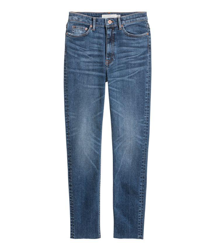 Slim Ankle High Jeans   Azul denim   MUJER   H&M MX