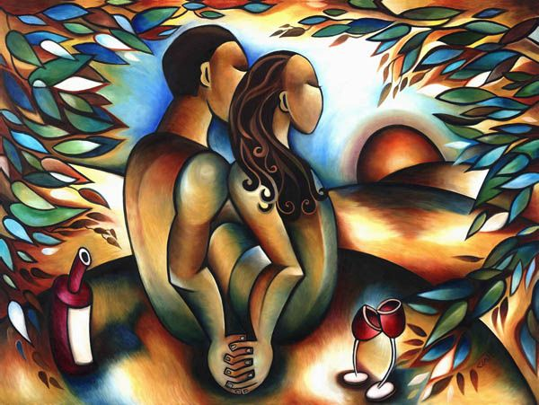 Stephanie Clair - Lovers at Sunset