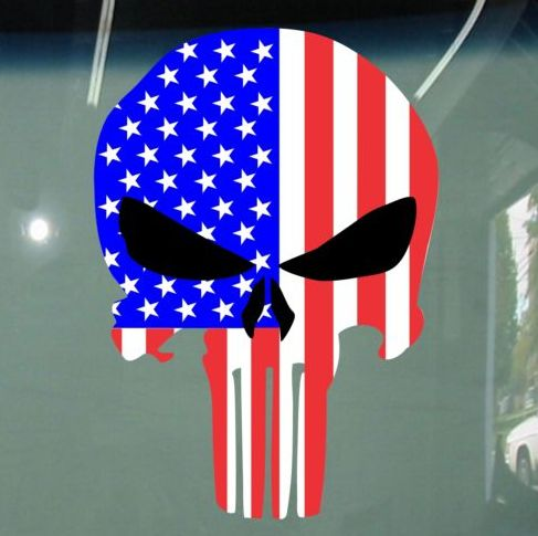 Oscar Mike Jeep >> Flag Punisher Jeep Decal Stickers | Punisher | Punisher ...