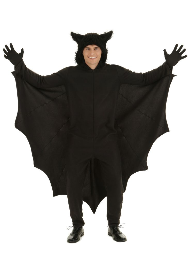You can be a furry little bat that has just crawled out from a cave when you wear this Adult Fleece Bat Costume.