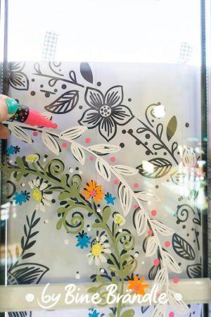 Vorlagenmappe Sonnentage Blütenträume Fensterbilder Pinterest