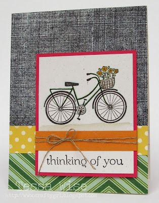 Crafty Girl Designs: Another Bicycle Card