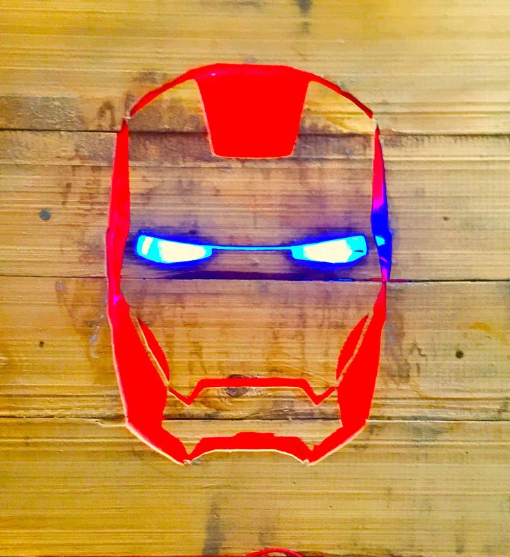 One of my prototype Iron Man Wood Sign Project.