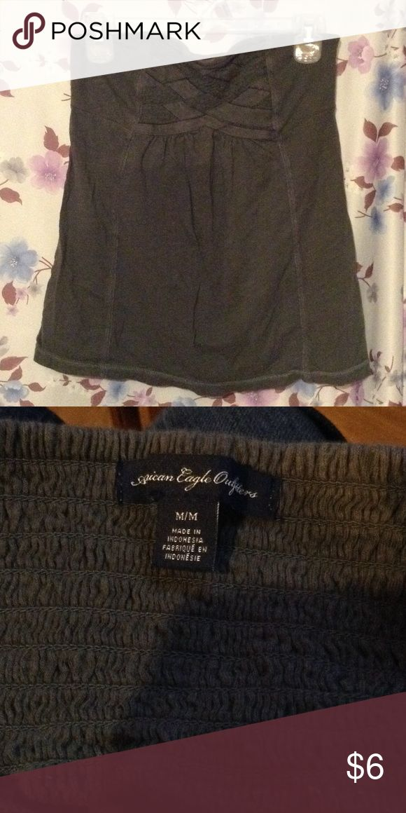 American Eagle Tube Top Gray, strapless tube top, medium American Eagle Outfitters Tops