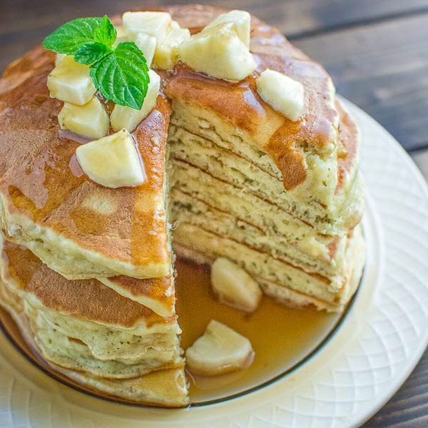 Healthy Banana Pancakes - COOKTORIA.COM