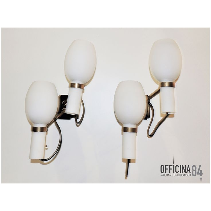 Coppia di applique Vistosi anni '50 #officina84 #milano #via padova #via padova84 #lampade&illuminazione #arredamento #design #sideboard #middlecentury #forniture #modernariato #forsale #living #home #sedie #vintage #art #lamps #livingroom #casa #visual #visualmerchandising #table #nolo #poltrone #industrialchic #mirrow #allestimenti #vetrine #luxury #architects #chairs