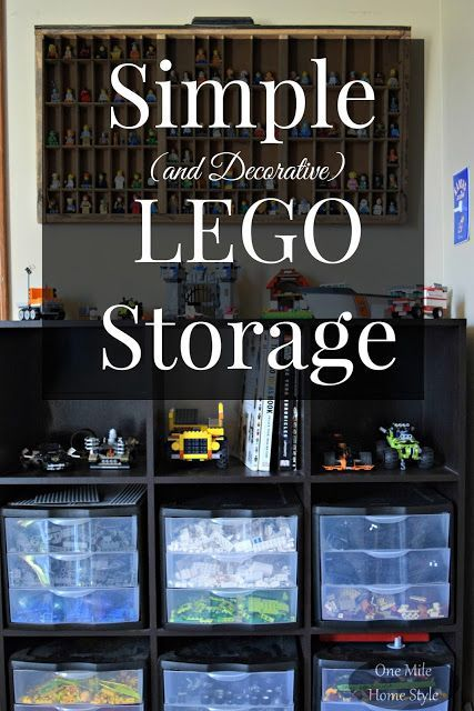 No more stepping on stray Legos! See how this family keeps the Legos under control and make it look nice at the same time - Simple and Decorative Lego Storage   One Mile Home Style