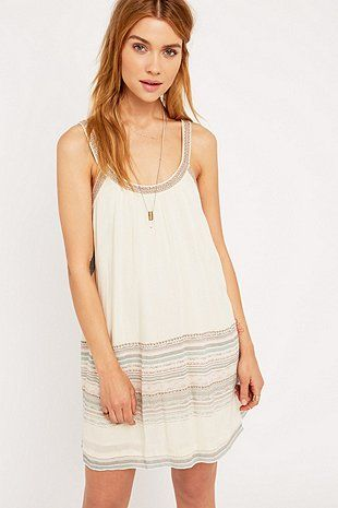 Ecote - Robe courte Bay Bay crème - Urban Outfitters