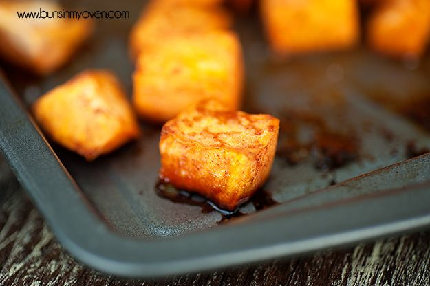 Buns In My Oven Roasted Sweet Potatoes With Honey and Cinnamon