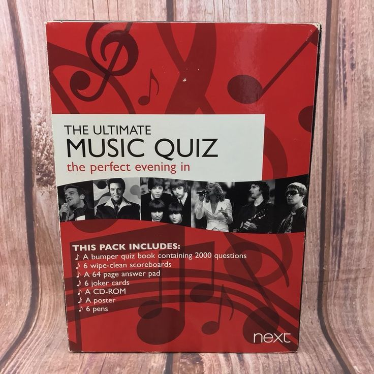 The Ultimate Music Quiz The Perfect Evening In Next Family Games 100 % Complete