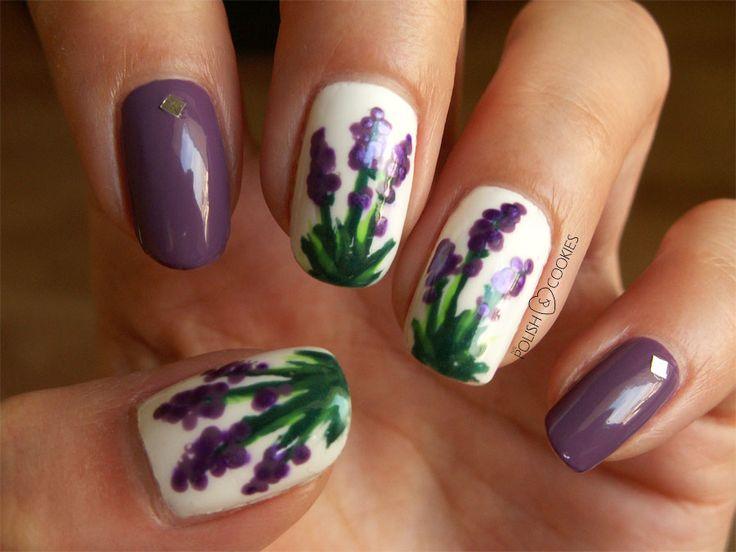 Lavender Nails Tutorial Paznokcie wiosenne