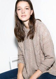 Pullover maglia intrecciata - Cardigan e pullover da Donna | MANGO