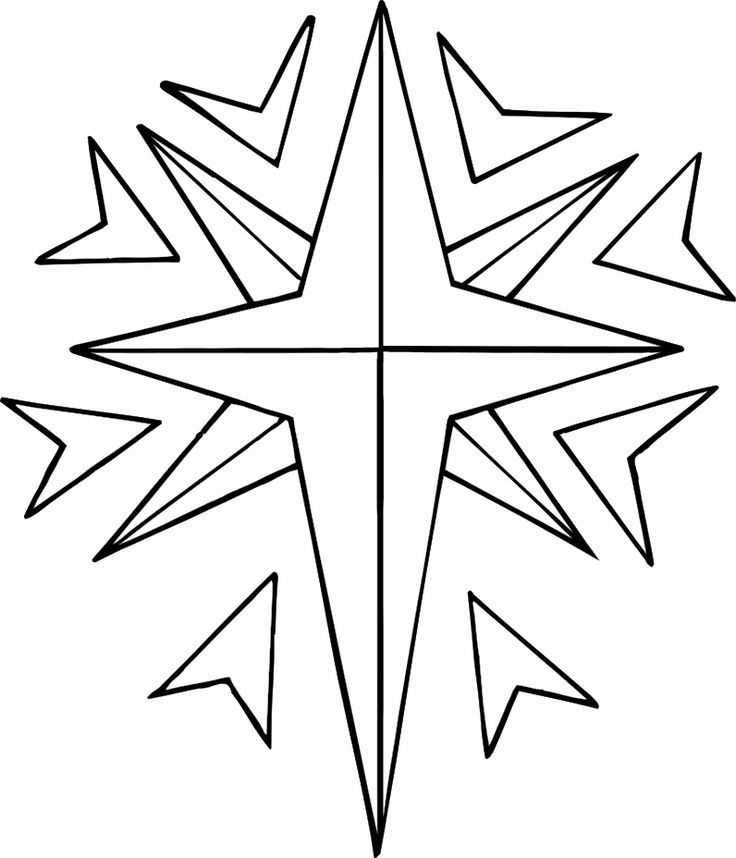 Latest Christmas Star Coloring Page Gallery