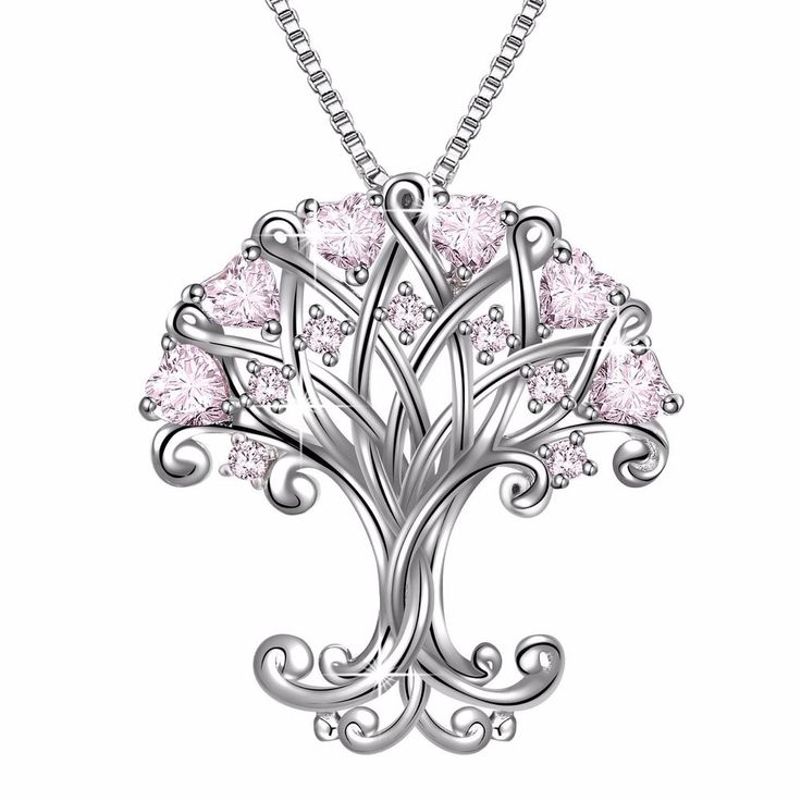 Sterling Silver Pendant Necklace Women Fashion Vintage Pink Heart Cubic Zirconia   Jewelry & Watches, Fashion Jewelry, Necklaces & Pendants   eBay!