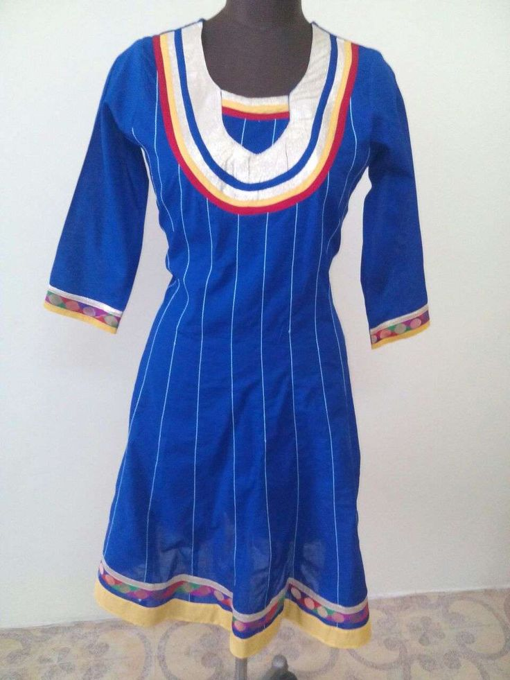 Anarkali Cotton Kurti-Royal Blue Color Kurti (Offer Price: Rs 649 , Offered Discount: 32%) ** BUY NOW ** [MRP: Rs 949]