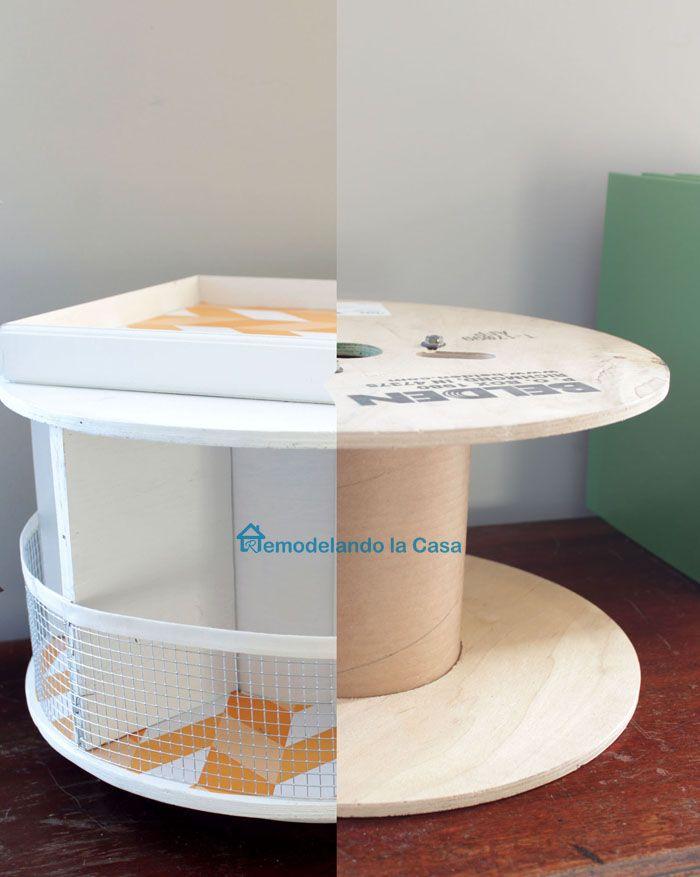 DIY - Wire Spool Desk Organizer