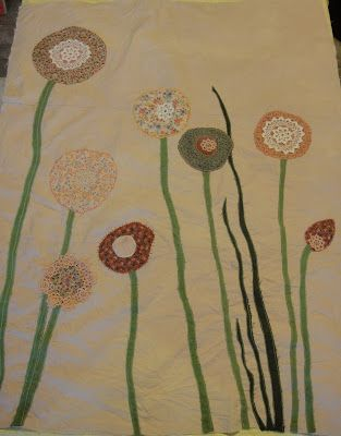 Sequoia's quilt by Serah Hedin tea dyed cotton, cotton, hemp, recycled fabrics