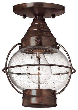 Transitional 1 Light Outdoor Ceiling FixtureCape Cod Collection - industrial - Outdoor Flush-mount Ceiling Lighting - Elite Fixtures