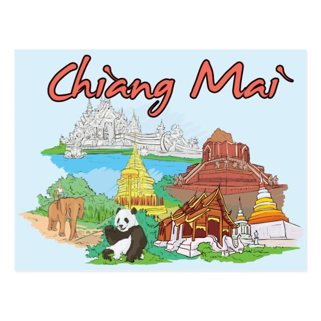 Create Your Own Postcard Zazzle Com Chiang Mai Thailand