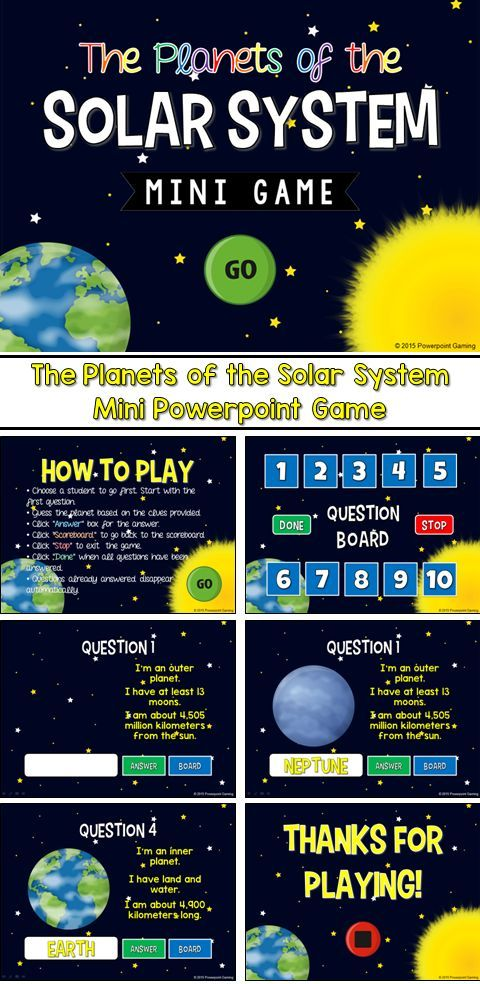 Engage students with this fun, interactive science game. In this mini game, students are identifying the 9 planets of the solar system and the sun (pluto as a dwarf planet). Each question has 3 clues that range from distance from the sun or a description of the planet (size, number of moons, nicknames, etc).