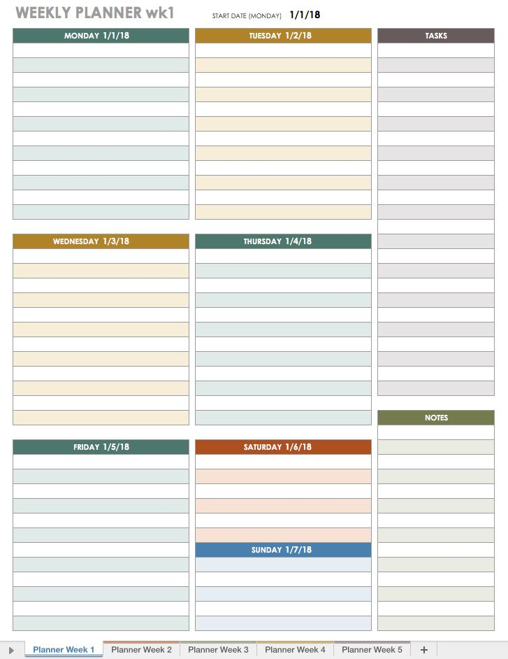 The  Best Weekly Schedule Template Excel Ideas On
