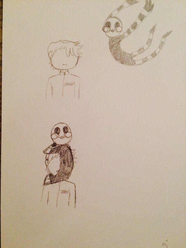 Marionette 'jumpscare' FNAF- fan art by me!!!
