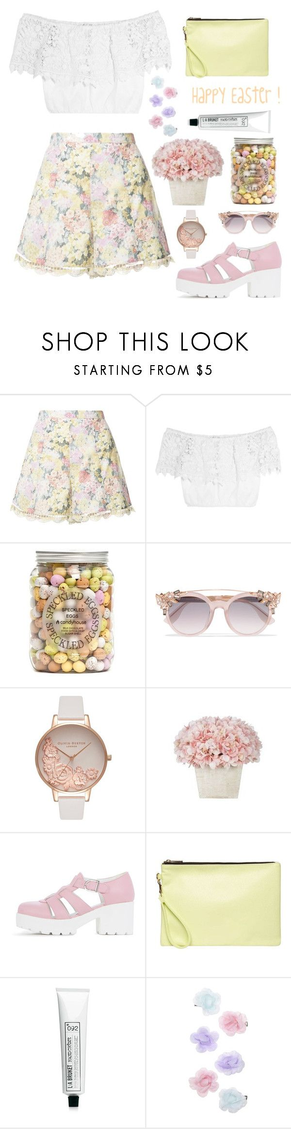 """""""Happy Easter !! 👯🐰🐣🐇🌼💐🌹"""" by hermiona355 ❤ liked on Polyvore featuring Zimmermann, Miguelina, Jimmy Choo, Olivia Burton, Dorothy Perkins, L:A Bruket and Monsoon"""