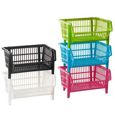 The Container Store > Our Basic Stack Basket    I want some of these for my classroom!