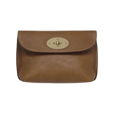 Mulberry Gift Kaleidoscope | Oak - Locked Cosmetic Purse in Oak Natural Leather With Brass