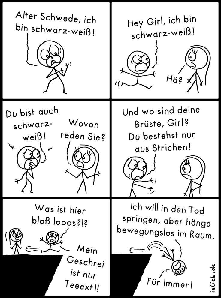 Schwarz-Weiß! Is lieb? | #schwarzweiss #comic #skizze #strichmännchen #islieb