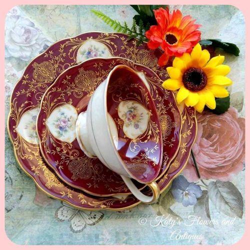 Tea Cup and Saucer, PM & M Germany, Bavaria, Tettau porcelain, 1946 - 1949