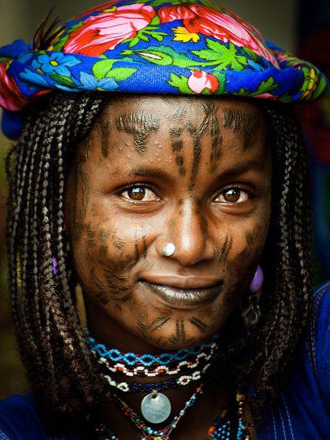 Mbororo, Cameroon.  The Mbororo belong to the Fulani/Peul ethnic group.